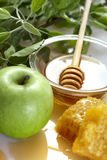 Honey and apples Stock Images