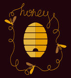 Honey Background illustration de vecteur