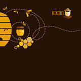 Honey background Stock Image