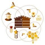 Honey background Stock Photo