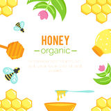 Honey background. Natural organic elements. Royalty Free Stock Photo