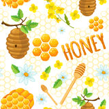 Honey Background Pattern illustration de vecteur