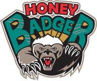 Honey Badger Mascot Front ilustración del vector