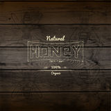 Honey badges logos and labels for any use Royalty Free Stock Photos