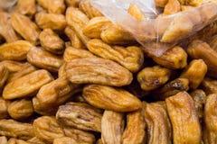 Honey Baked Bananas, thailändischer Snack Lizenzfreies Stockfoto