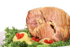 Free Honey Baked Ham With Garnish Stock Image - 6237321
