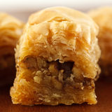 Honey baklawa. A closeup of a traditional baklawa  sweets Royalty Free Stock Image