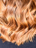 Honey Balayage Hair Stock Image
