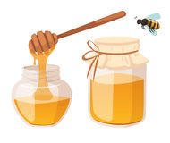 Honey bank vector illustrations Royalty Free Stock Image
