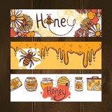Honey Banner Set Royalty Free Stock Image
