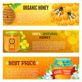 Honey Banner Set Royalty Free Stock Photos