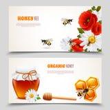 Honey Banner Set royalty free illustration