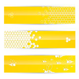 Honey banners Royalty Free Stock Photo