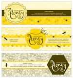 Honey Banners royaltyfri illustrationer