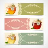Honey banners horizontal Stock Photos