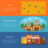 Honey Banners Set Royalty Free Stock Images