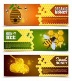 Honey Banners Set Royalty Free Stock Image