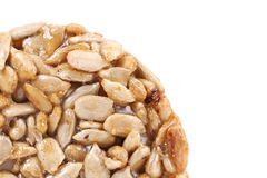 Honey bar with sunflower seeds Royalty Free Stock Photo
