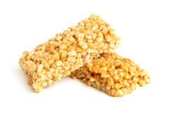 Honey bars with peanuts Stock Images