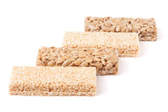 Honey bars with peanuts, sesame  and sunflower seeds Royalty Free Stock Photos