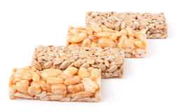 Honey bars with peanuts, sesame  and sunflower seeds Royalty Free Stock Image