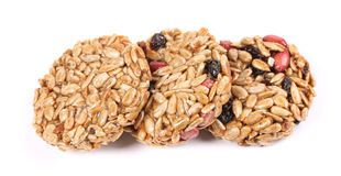 Honey bars with peanuts sunflower seeds Stock Image