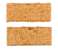 Honey bars with sesame seeds royalty free stock images