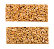 Honey bars with sunflower seeds stock photos