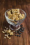 Honey bars with sunflower seeds Royalty Free Stock Image