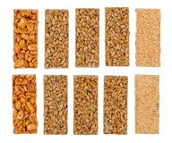 Free Honey Bars With Peanuts, Sesame And Seeds Royalty Free Stock Image - 23002876