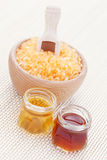 Honey bath salt Stock Image