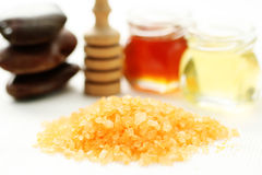 Honey bath time Royalty Free Stock Photo