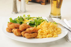 Honey battered chicken strips Royalty Free Stock Photos
