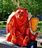 Honey Bear Artwork rouge photos libres de droits