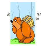 Honey bear Royalty Free Stock Photo