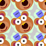 Honey on bear seamless background design Stock Photo
