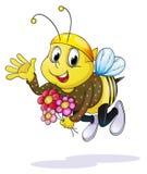Honey bee. Illustration of honey bee on a white background vector illustration