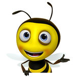 Honey bee. 3d cartoon sweet honey bee royalty free illustration
