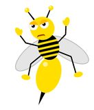 Honey bee angry Stock Image