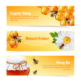 Honey bee banners Stock Photography