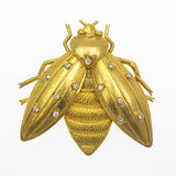 Honey Bee Brooch Royalty Free Stock Photo