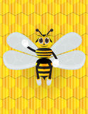 Honey bee cartoon with background Royalty Free Stock Image