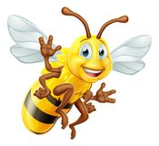 Honey Bee Cartoon Character Fotografie Stock