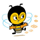 Honey bee character Royalty Free Stock Photography