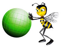 Honey bee global green Royalty Free Stock Photos