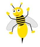 Honey bee happy Royalty Free Stock Photography