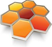 Honey bee honeycombs symbol, icon, graphic Stock Photos