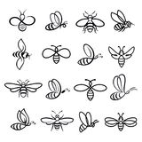 Honey Bee Icons illustrazione vettoriale