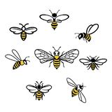 Honey Bee Icons Immagini Stock