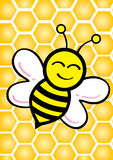 Honey & Bee. Illustration style design Royalty Free Stock Image